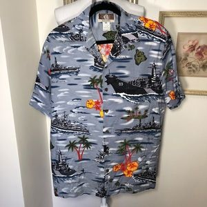 Pearl Harbor Remembered Men's Hawaiian Shirt SzM